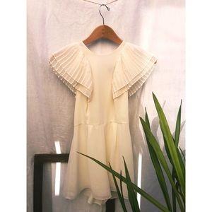 Topshop Off-White Romper Dress